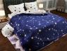 """Семейный набор хлопкового постельного белья из Бязи """"Gold"""" с простынью на резинке №144135AB Черешенка™"""