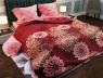 """Ткань для постельного белья Бязь """"Gold"""" Lux """"Абстрактный принт (красный)"""" GL849 (A+B) - (50м+50м)"""