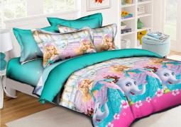 Полуторный набор постельного белья 150*220 из Ранфорса №17789 Черешенка™