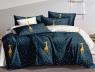 Полуторный набор постельного белья 150*220 из Сатина №114AB Черешенка™