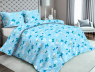 """Ткань для постельного белья Бязь """"Gold"""" Lux """"Бабочки (голубой)""""GL2058"""