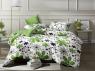 Полуторный набор постельного белья 150*220 из Сатина №109AB Черешенка™