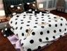 """Ткань для постельного белья Бязь """"Gold"""" Lux """" Sweet Dream (чорно-белый горошек)"""" GL1208 (A+B) - (50м+50м)"""