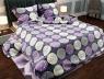 """Ткань для постельного белья Бязь """"Gold"""" Lux """"Геометрический принт (круги, фиолетовый)"""" GL815."""