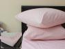 Комплект простыни на резинке с наволочками (160*200*25) розовый в полоску