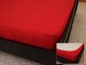 Простынь на резинке (160*200*25) ярко-красная