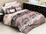 """Ткань для постельного белья Бязь """"Gold"""" """"Цветочные вензельные узоры (коричневая)"""" GLL3067brown"""