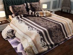 """Семейный набор хлопкового постельного белья из Бязи """"Gold"""" с простынью на резинке №140668 Черешенка™"""