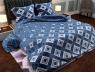 "Ткань для постельного белья Бязь ""Gold"" Lux ""Геометрический принт (ромб, синий)"" GL941"
