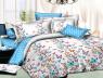 """Ткань для постельного белья Бязь """"Gold"""" Lux """"Разноцветные мелкие бабочки"""" GL844 (A+B) - (50м+50м)"""