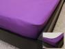 Простынь на резинке (160*200*25) фиолетовая