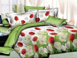 Двуспальный набор постельного белья 180*220 из Ранфорса №180021 Черешенка™