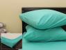 Комплект простыни на резинке с наволочками (160*200*25) светло-бирюзовый