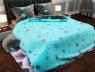 """Семейный набор хлопкового постельного белья из Бязи """"Gold"""" с простынью на резинке №147351AB Черешенка™"""