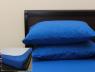 Комплект простирадла на резинці з наволочками (160*200*25) синій