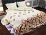 """Тканина для постільної білизни Бязь """"Gold"""" Lux """"Геометричний принт (помаранчевий)"""" GL830"""