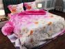 """Ткань для постельного белья Бязь """"Gold"""" Lux """"Цветочная поляна (розовый)"""" GL162."""