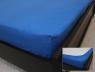Простынь на резинке (160*200*25) синяя