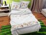 """Ткань для постельного белья Бязь """"Gold"""" Lux """"Мишки (полоска, серый)"""" детская GLB119"""