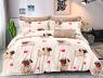 Двуспальный набор постельного белья 180*220 из Сатина №8019AB Черешенка™