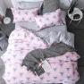 """Ткань для постельного белья Бязь """"Gold"""" Lux """"Стилизированный геометрический (розовый)"""" GL1244 (A+B) - (50м+50м)."""