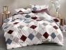 Двуспальный набор постельного белья 180*220 из Сатина №1775 Черешенка™