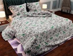 """Двуспальный набор постельного белья 180*220 из Бязи """"Gold"""" с простынью на резинке №147009 Черешенка™"""