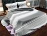 """Ткань для постельного белья Бязь """"Gold"""" Lux """"Греческий принт (полоска, светло-серый)"""" GL940"""