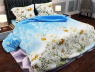 """Ткань для постельного белья Бязь """"Gold"""" Lux """"Цветочная поляна (голубой)"""" GL161"""