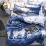"""Ткань для постельного белья Бязь """"Gold"""" Lux """"Урбанистический принт (синий)"""" GL1335 (A+B) - (50м+50м)"""