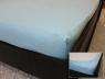 Простынь на резинке (160*200*25) светло-голубая