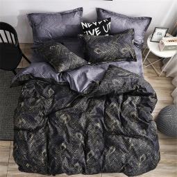 Семейный набор хлопкового постельного белья из Сатина №1002AB Черешенка™