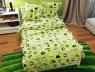 """Ткань для постельного белья Бязь """"Gold"""" Lux детская GLB3019green"""