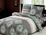 """Ткань для постельного белья Бязь """"Gold"""" Lux """"Орнамент (геометрический, серый)""""GL2055"""