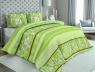 """Ткань для постельного белья Бязь """"Gold"""" Lux """"Абстрактный принт (полоска, зелёный)"""" GL1231 (A+B) - (50м+50м)"""