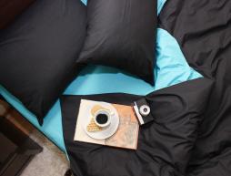 """Двуспальный набор однотонного постельного белья 180*220 из Бязи """"Gold"""" №154025AB Черешенка™"""