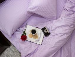 Двоспальний набір постільної білизни 180*220 з Страйп Сатину №543405 KRISPOL™