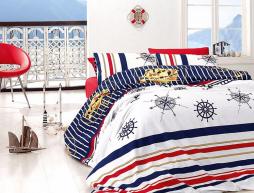 Семейный набор хлопкового постельного белья из Ранфорса Aqua Passion First Choice™