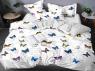 """Семейный набор хлопкового постельного белья из Бязи """"Gold"""" с простынью на резинке №144496AB Черешенка™"""