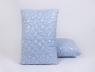 Подушка микрофибра/холлофайбер 50*70 синяя (на замке)