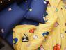 Двуспальный набор постельного белья 180*220 из Сатина №867AB Черешенка™