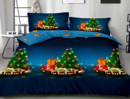 Двуспальный набор постельного белья 180*220 из Ранфорса №18843AB Черешенка™