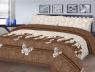 """Тканина для постільної білизни Бязь """"Gold"""" Lux """"Мереживні котики (коричневий)"""" GL4169."""