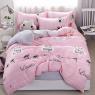 """Ткань для постельного белья Бязь """"Gold"""" Lux детская """"Текстовый принт (розовый)"""" GLB169"""