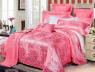 Двуспальный набор постельного белья 180*220 из Жаккарда №022AB KRISPOL™