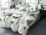 Двуспальный набор постельного белья 180*220 из Сатина №0736AB Черешенка™