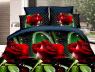 Євро-максі набір постільної білизни 200*220 із Ранфорсу №18621 Черешенька™