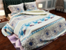 """Ткань для постельного белья Бязь """"Gold"""" Lux """"Небесные цветы"""" GL857"""