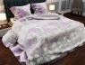 """Ткань для постельного белья Бязь """"Gold"""" Lux """"Цветочный принт (крупный, серый)""""  GL954"""