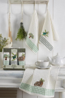 Набор кухонных полотенец Nilteks Gualite Zeytin 35*50 (3 шт)
